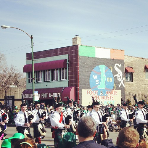 Southside Irish Parade 2012 - no shortage of bagpipes