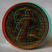 HDR pound coin 3d Anaglyph red blue glasses to view