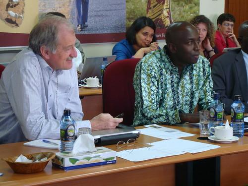 Carlos Seré (IFAD) and Baba Soumare (AU-IBAR)