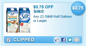 Silk Half Gallons Or Larger Coupon
