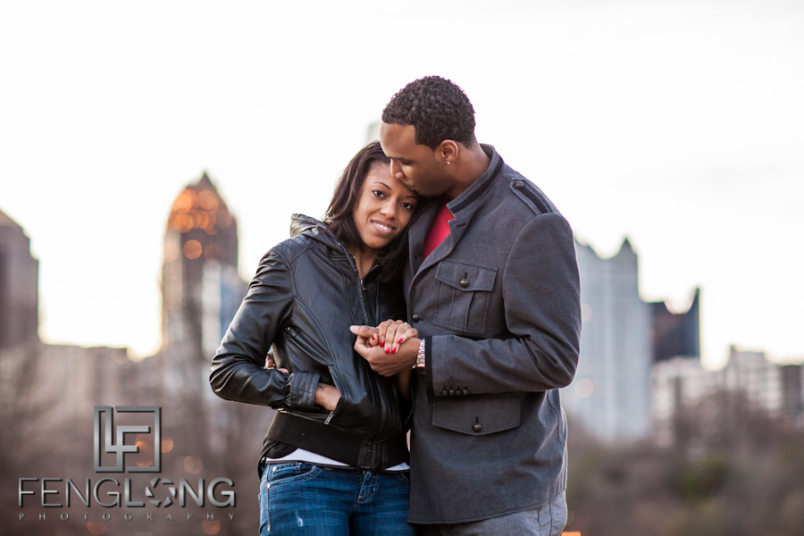 Justin & Nnete's Surprise Engagement Session | Piedmont Park | Atlanta Midtown Wedding Photographer