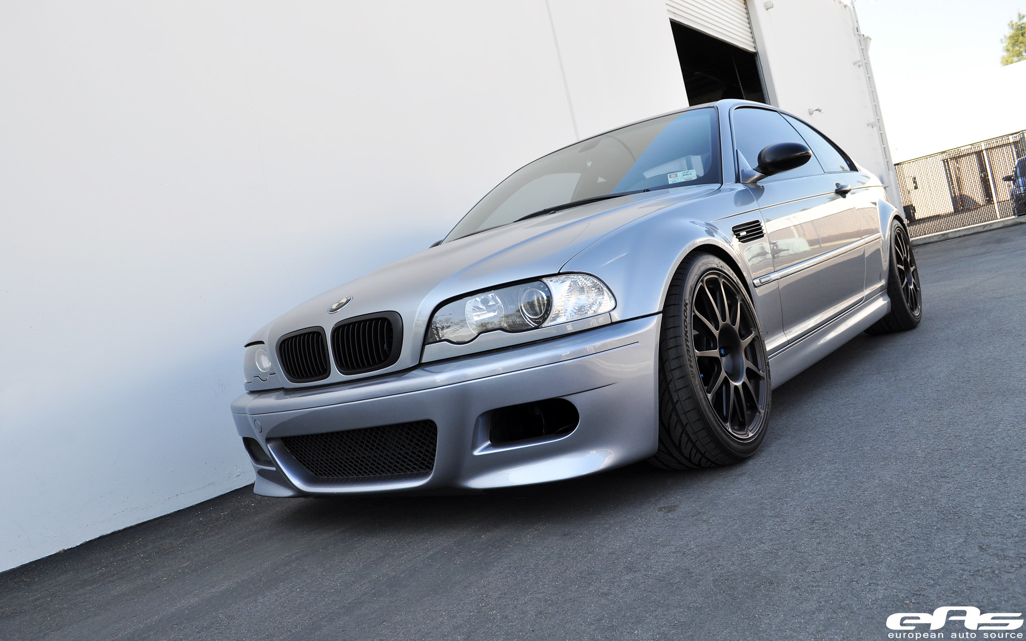 Silver Gray E46 M3 W Matte Black Hre Wheels Bmw