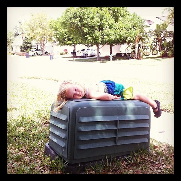 sunbathing?