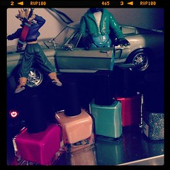 nail polish & figurines <3