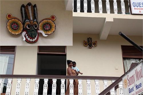 斯里蘭卡-面具在民宅