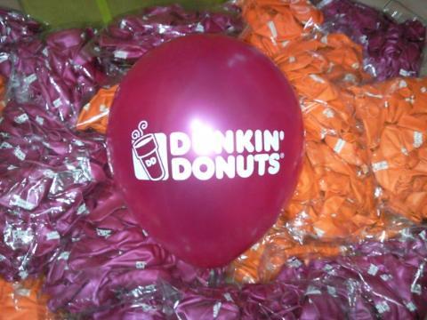 豆豆氣球, 客製化廣告印刷氣球, DONKIN DONUTS