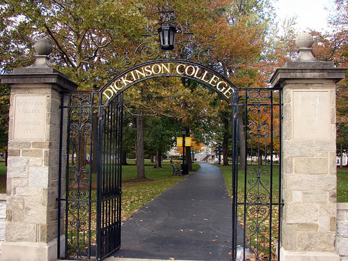 campus gate, Dickinson College (by: Jason Trommetter, creative commons license)