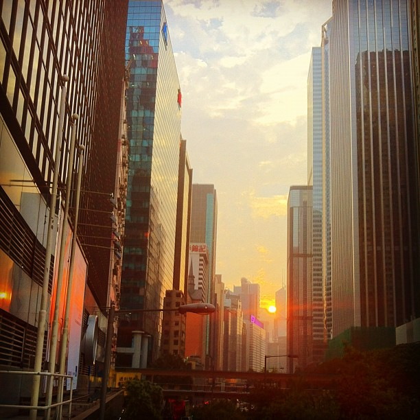 Sunset in Wan Chai