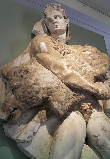 Hercule et le sanglier d'Erymanthe (Hercules' Fourth Labor: the Erymanthian Boar), MSR, Musée Saint-Raymond, Villa romaine de Chiragan, Musée des Antiques de Toulouse