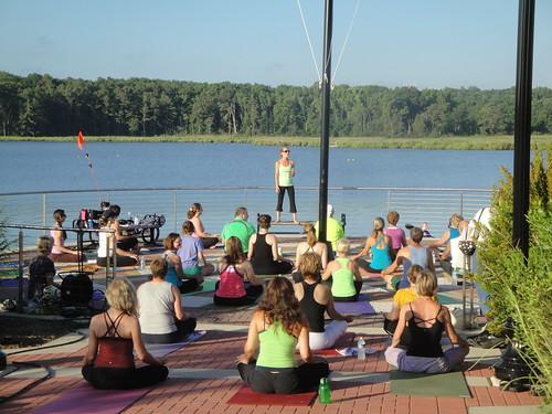 Yoga Class, Leonardtown Wharf, Leonardtown