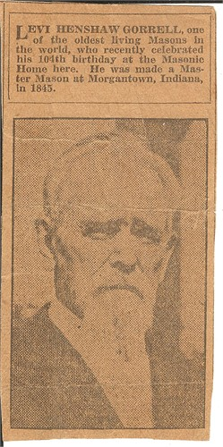 Levi H Gorrell 104th Birthday Photo Clipping
