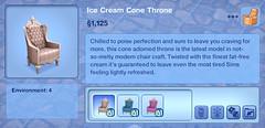 Ice Cream Cone Throne