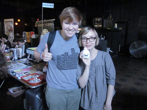 Fluke - meeting Tofu Baby fan Katie!
