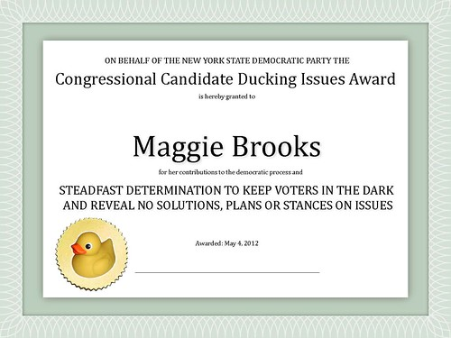 Congressional Candidate Ducking Issues Award