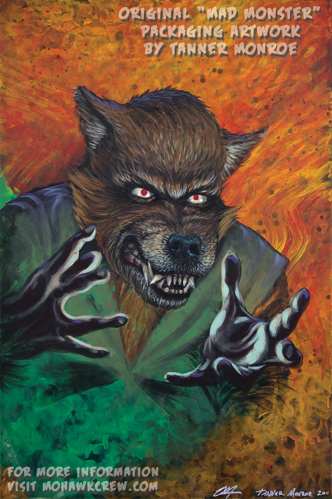 """The Human Wolfman"" Original Painting by Tanner Monroe"