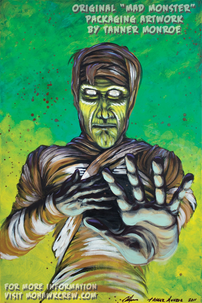 """The Horrible Mummy"" Original Painting by Tanner Monroe"