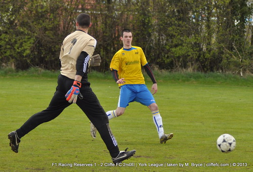Cliffe FC 2ndXI 2 - 1 F1 Racing Reserves 27Apr13