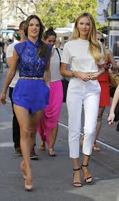 Candice Swanepoel White Trousers Celebrity Style Women's Fashion