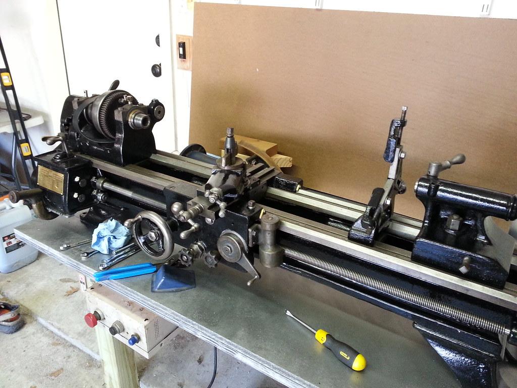 After Photo of Lathe