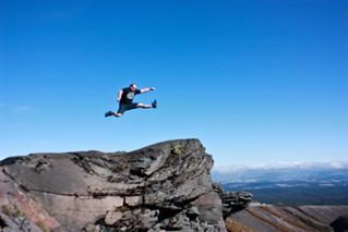 Mountain jump
