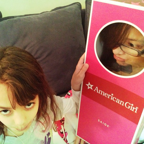 "Harper's not very happy about her ""Just Like Meredith"" American Girl doll. Eighth birthday sadness."