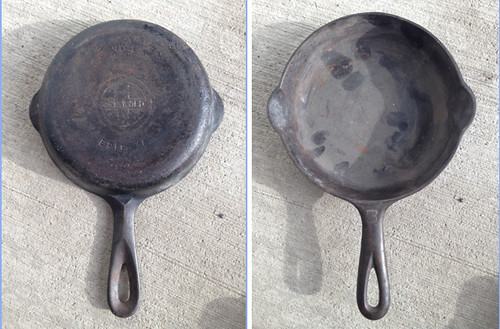 Griswold #3, as-bought, before cleaning and seasoning,