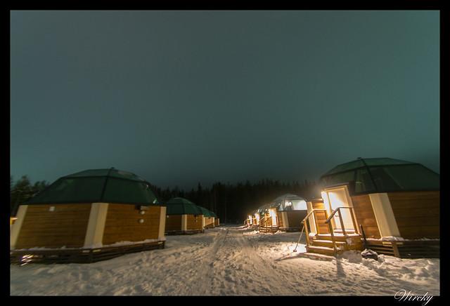 Laponia Rovaniemi iglú cristal cena salmón kota - Iglús de cristal