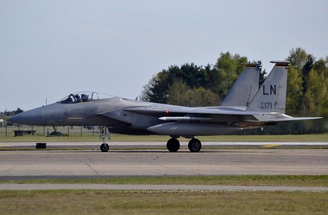 United States Air Force McDonnell Douglas F-15C Eagle 86-0171 at RAF Lakenheath 5/5/16