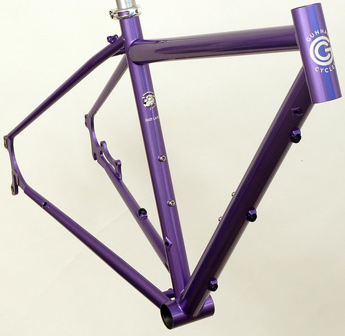<p>Gunnar Fastlane Custom in Starlight Purple with DI2 Routing.  The Fastlene offers tremendous versatility for distance riding on roads, gravel, light trails and city streets.  Chaiinstay disc mounts offer excellent wet braking as well.</p>