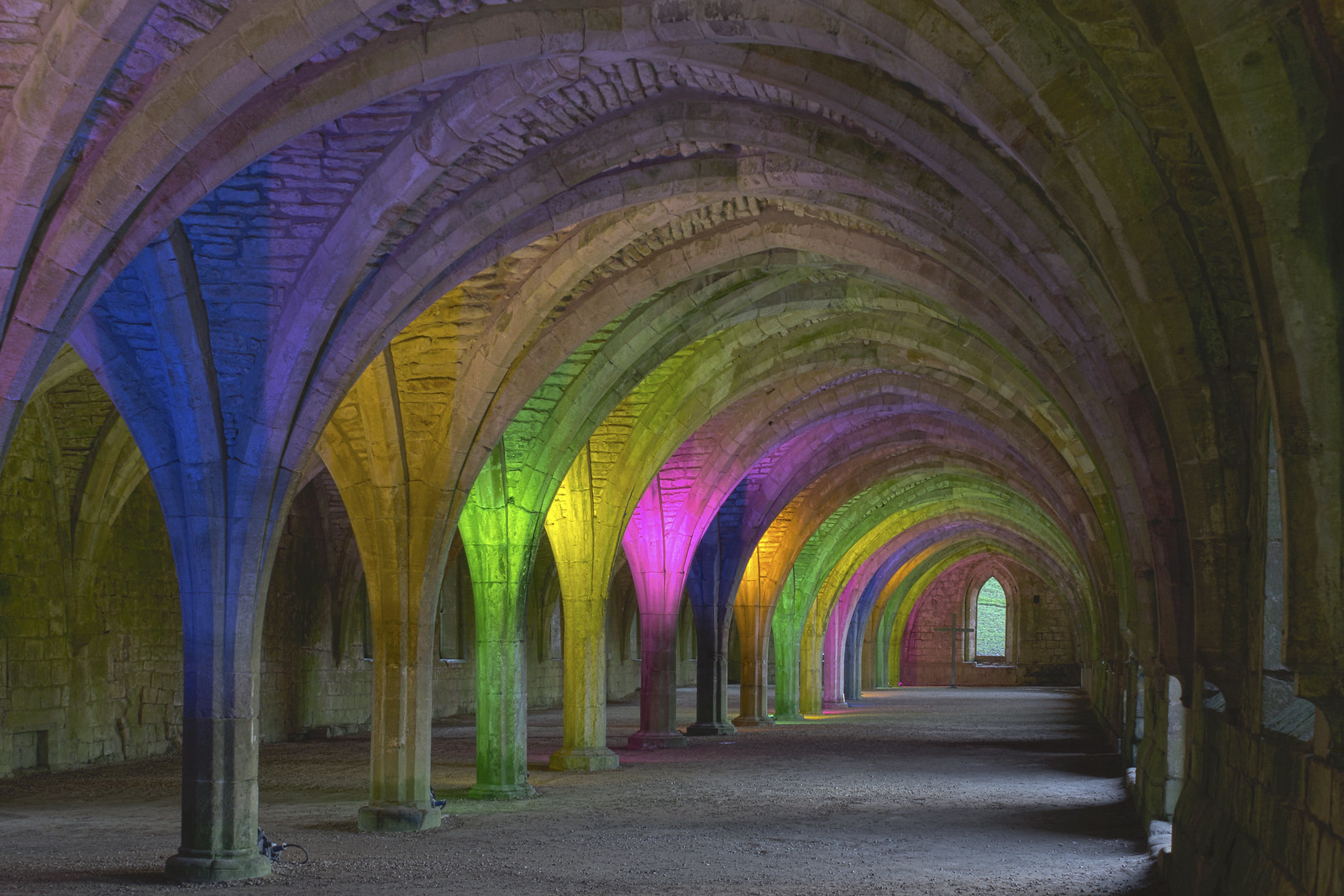 Fountains Abbey Monks' cellarium. Credit Katie Chan