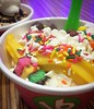 Mango @16handles fro-yo with @thesocialyogi to celebrate the lil' mango this week! :icecream:#19weeks