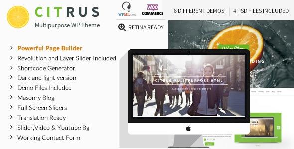 Citrus v1.8 - Creative One Page Multi-Purpose Theme