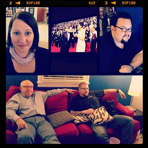 It's Oscar Night! Pizza. Heckling of celebrities. Movies. #febphotoaday