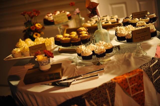 Meg Tracy Rustic Cupcake Wedding Wedding Cupcake Table for Wedding