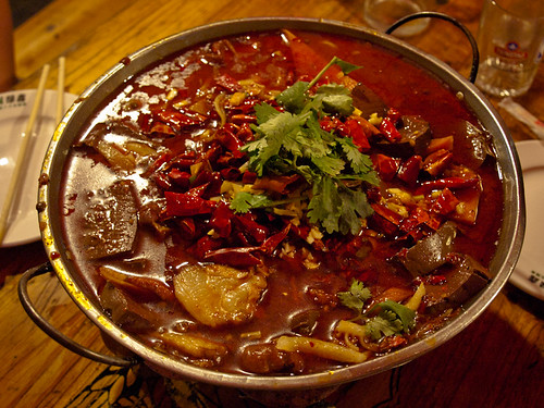 Comida china - olla con carne