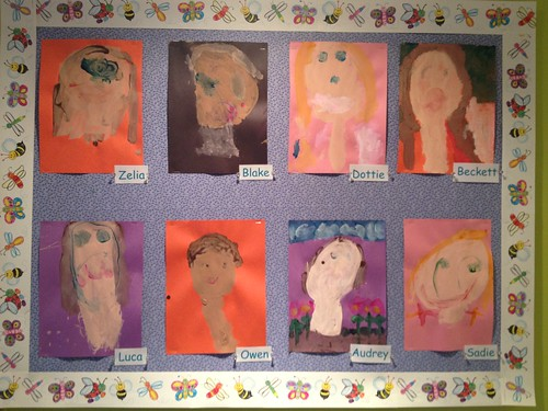 Self portraits at school