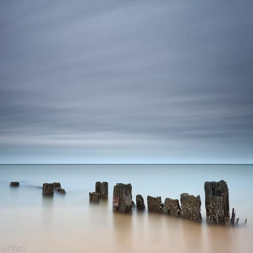 birthday longexposure water clouds sunrise square pier sand horizon maryland northbeach barnacles lowtide chesapeakebay oneofthesedays peskyducks