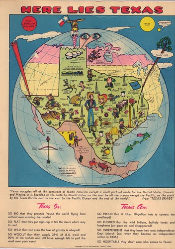 Texas Mapcard-Big Postcard