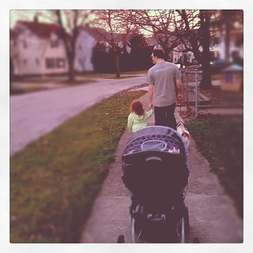 Evening neighborhood stroll.