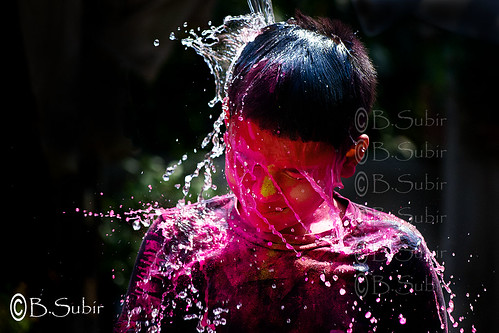 Wash off the color..Holi 2012..DSC_4898
