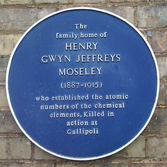 Photo of Henry Moseley blue plaque