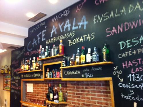 Interior Cafe Ayala Bilbao by LaVisitaComunicacion