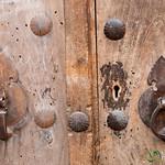His and Her Door Knockers - Yazd, Iran