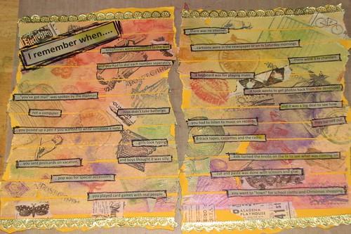 Art Journal #8 - Stamped Masking Tape 011