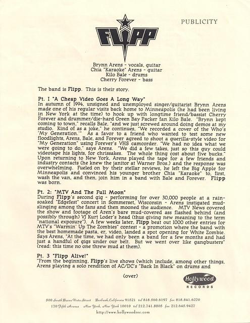 Flipp Promo Sheet B #1