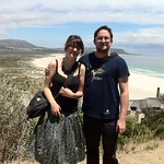 Matt + me at Noordhoek beach