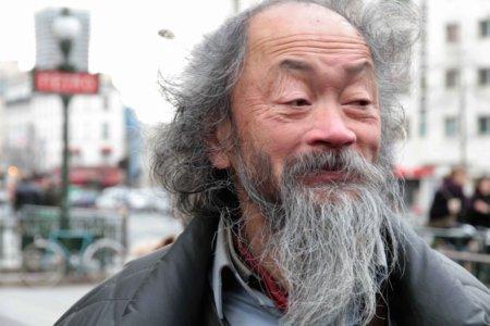 10b21 Año Nuevo chino XIII217 Hombre solitario barba blanca
