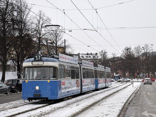 Die Haltestelle Werinherstraße hat der P-Wagen gerade verlassen