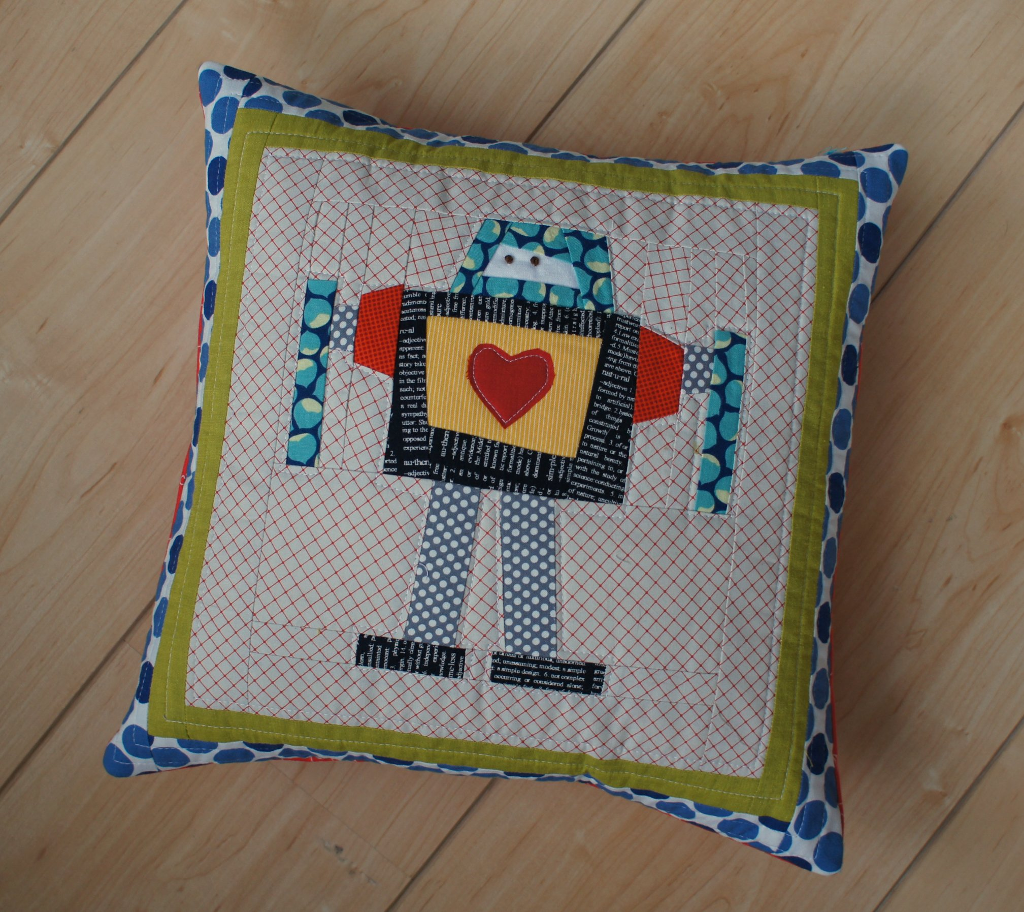 robot pillow for Cooper