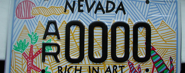Photo of the Nevada Rich in Art License Plate
